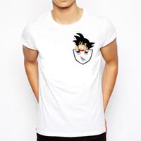 ingrosso maglietta anime-Dragon Ball T Shirt Uomo Estate Dragon Ball Z Super Son Goku Slim Fit Cosplay 3D T-Shirt Anime Vegeta Dragon Ball Tshirt Homme
