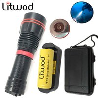 Wholesale Diver Diving Flashlight - Litwod Z20D78 Diving LED Flashlight XM-L2 Underwater 150M Waterproof LED Diving Flashlight 26650 Battery run time 15 hours