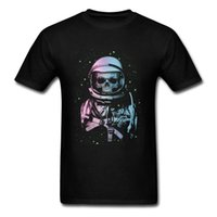 punk metal camiseta al por mayor-Death In Space Tops Tees Hombres Spaceman T-shirt Punk Metal Astronaut T-shirt Verano T-shirt Geek Chic Clothing Hip Hop
