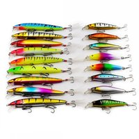 Wholesale suspend lures resale online - 17Pcs Fishing Lure Hard Fishing Bait Suspend Minnow Lure High Quality Artificial Wobblers with Hook