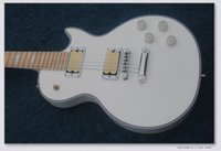 Wholesale white guitar for sale resale online - Hot Sale Factory Custom White Electric Guitar silver Hardware Maple Fretboard Can be Customized
