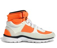 Wholesale high sport shoes ladies - 2018 new European women's fashion luxury white leather shoes casual shoes, Ladies Orange high sports shoes high quality, low price 35-41