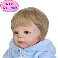 Wholesale baby dolls wigs for sale - Group buy NPK Fashion CM Bjd SD Hair Wig Boy Reborn Baby Doll Sticked Hair Wig Bonecas Reborn Hair Wig For Boy Dolls