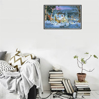 Wholesale oil painting cross stitch for sale - Group buy Diy Manual Christmas Diamond Painting Living Room Snow Scene Cross Stitch Drilled Picture Decorative Paintings Embroidery bj gg