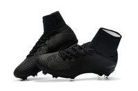 ingrosso delle donne tacchetti da calcio all'aperto-Tacchetti da calcio unisex nero completo originale Mercurial Superfly V CR7 FG Scarpe da calcio per bambini Ronaldo Womens Outdoor Football Boots