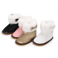 Sweet Princess Baby Shoes Girls Booties Handsome Boys Kids Boots Winter  Toddler Newborn PU Leather Rubber First Walker Snow Warm e882805fdb46