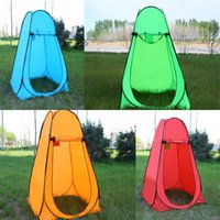 Wholesale portable toilet outdoors - Adult Tent Outdoor bathing Shower bath thickening Trial dressing cover Simple and easy move Toilet Portable Locker Room 50bg dd