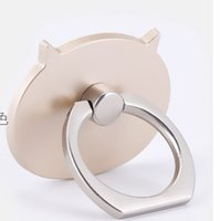 Wholesale phone holder for head online – Universal Luxury Cartoon head Degree Finger Ring Mobile Phone Smartphone Stand Holder For all phone with Retail Box