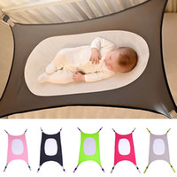 Wholesale Newborn Hammock - 2018 New Portable Newborn Baby Kids Hammock Infant Bed Elastic Detachable Baby Crib Safty 5 Colour