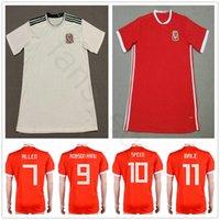 País de Gales Futebol Jersey 10 AARON RAMSEY 11 GARETH BALE ALLEN TAYLOR  WARD 9 ROBSON-KANU 6 WILLIAMS Casa Red Away Branco Personalizar Camisas de  Futebol 4087c01b2b24e