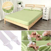 Wholesale elastic beds - Convenient Bed Sheet Mattress Cover Blankets Grippers Clip Holder Fasteners Elastic Set 4 Pcs Set