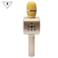 семейство телефонов оптовых-M5 Wireless Professional Karaoke Microphone speaker Smart phone FAMILY KTV Bluetooth microphone music Singing playing Speaker
