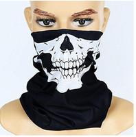 yeni kayak kafatası maskesi toptan satış-Serin Kafatası Bandana Bisiklet Kask Boyun Yüz Maskesi Paintball Kayak Spor Bandı yeni moda kaliteli düşük fiyat Parti Malzemeleri