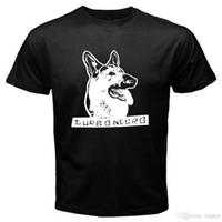 punk metal camiseta al por mayor-Nuevo Turbonegro * Dog Symbol Metal Punk Rock Band Camiseta negra para hombre Talla S-3XL