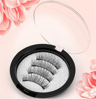 Wholesale Soft Magnets - 4pcs pair 3D Magnetic Eye False Eyelashes Handmade Mink Reusable False Triple Natural Long Soft Thick Hair Magnet Eye Lashes with 2 Magnets
