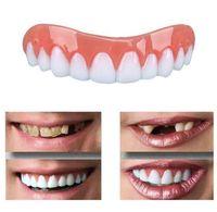 Wholesale fake teeth - Silicone Perfect Instant Smile Comfort Fit Flex Teeth Whitening Denture Paste False Teeth veneers Upper Cosmetic Fake Tooth Cover Tool