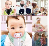 ropa de houndstooth al por mayor-Baby INS Fox Bibs Burp Cloths 46 diseños Bandana Infantil Saliva Cloth INS Triangle Bibs Newborn Burp Cloths con cadena de chupete de DHL