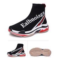 nuevas botas de velocidad al por mayor-Nuevos zapatos Speed Trainer para hombre, mujer, calcetines y botas de alta calidad de punto elástico, botas de carrera, zapatillas de carreras de diseñador de carrera