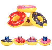 Wholesale wholesale inflatable swimming pool toys - Inflatable Swim Floats Drink Cup Holder Donuts Summer Pool Party Beverage Donut Beach Phone Holder Swimming Supply