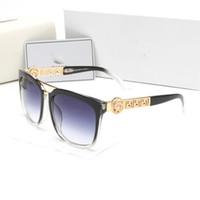 gafas de sol claras de protección uv al por mayor-Venta al por mayor estilo de verano italia marca medusa gafas de sol mujeres hombres marca diseñador uv protección gafas de sol lente clara y lente de recubrimiento sunwear