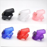 Wholesale Adult Building - Male Chastity Device with Perforated design small Cage sex Penis Rings toy brass built-in lock Adult A373