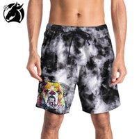 0a716b8b4e Large size swimming trunks 2018 summer new men's pants 3D cartoon paparazzi  printed beach pants casual