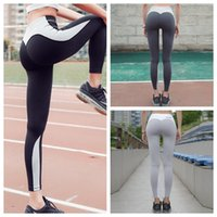 Wholesale multi color yoga pants resale online - Women Nice Leggings High Quality Thin Sports Yoga Pants Fitness Running Maternity Long Trousers Legging Tight Sportwear GGA130