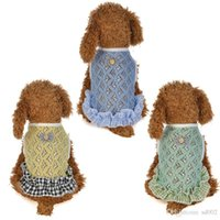 Wholesale love leisure online - Pet Supplies Clothes Spring And Summer Love Print Vest With Net Eye Soft With Multicolor Leisure Time To Small Dog Apparel dl jj