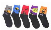 ingrosso pipistrello in cotone-5 stili Halloween uomini donne calze nuovi calzini per adulti strega bat batuffoli di cotone di buona qualità Cotton Soft Socks