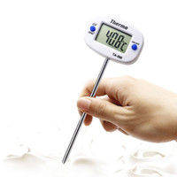 Wholesale electronic chocolate online - Rotatable Digital Food Thermometer BBQ Meat Chocolate Oven Milk Water Oil Cooking Kitchen Thermometer Electronic Probe Tempertature Meter
