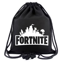 Wholesale gifts books - Fortnite Cosplay backpack teenager Drawstring bag game Canvas students book bags Kids Gift Beach Pouch bags School shoulders Bag holiday new