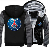 6615f6aa44eba Wholesale super plus size coats online - 2018 Paris Saint Germain Hoodie  Winter Thicken fleece Cotton