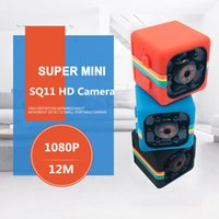 capteur de mouvement dvr vision nocturne achat en gros de-Portable SQ11 HD 1080 P Voiture Accueil CMOS Capteur Vision Nocturne Caméscope Mini Caméra DVR DV Motion Enregistreur Caméscope