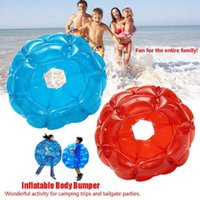Wholesale inflatable new game - New Inflatable Body Bump Bumper Ball PVC Air Bubble Outdoor Kids Game Bubble Buffer Zorb Balls party Outdoor sport Activity 90cm