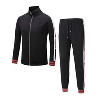 Wholesale Medusa Hoodie - Tracksuit Jackets Set Fashion Running Tracksuits Men Sports Suit Letter printing Slim Hoodies Clothing Track Kit black Medusa Sportswear
