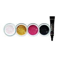 Wholesale wholesale loose glitter online - HOT Makeup Faced eyeshadow colors LOOSE GLITTER AND GLITTER PRIMER SET Glitter Glue Tis The Season To Sparkle Set DHL shipping