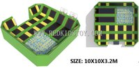 Wholesale park stand - Top Quality CE Certified Park Trampoline With Foam Pit & Basketball Stands HZ-LG027