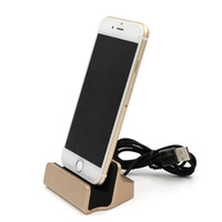 Wholesale mobile phone base - Aluminum alloy mobile phone charger ipad tablet charging base For iPhone 7 6 6S Plus 5 5S 5C SE Android Type C base Seat with package