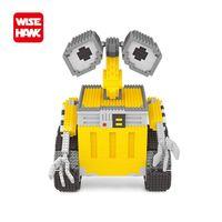 modèles américains chauds achat en gros de-Drôle Robot Jouets Vente Chaude En Plastique Puzzle Modèle Américain Anime Créatif Miniature Bâtiment Briques Jouets Éducatifs