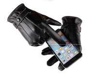 Wholesale Soccer Mittens - new hot selling waterproof Full finger Motorcycle Cycling Mittens Solid PU Leather Luxurious Forefinger Touch Screen Gloves