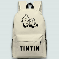 The Adventures of Tintins backpack Tintin day pack Cartoon school bag Leisure packsack Quality rucksack Sport schoolbag Outdoor daypack