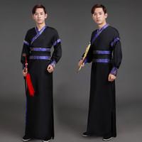 alte chinesische kostüme frauen großhandel-chinesische Tanzkostüme Männer traditionelle Mann Kleid Tang Fee Langarm Frauen Hanfu Kleidung Frauen Cosplay Herren alten Kostüm