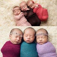 ingrosso asili nido-Baby Photography Puntelli Coperte Infant Newborn Cotton Stretch Coperta avvolgente in maglia Felpa Nursery Biancheria da letto Sleepsacks Sciarpe
