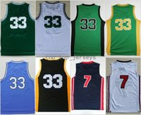 Wholesale college sport teams - High Quality 33 Larry Bird Jersey 1992 USA Dream Team Indiana State Sycamores Basketball Larry Bird College Jerseys Sports