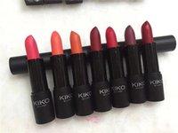 губные помады 3.8g оптовых-Itlay Марка Kiko Milano Smart Lipstick матовая помада 9 цветов 3,8 г