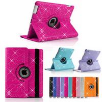 mini casos de ipad diamantes al por mayor-Glitter Diamond Fashion Wallet Funda de cuero Flip Kickstand para iPad 234 Air Mini 9.7 5th Gen Pro 10.5