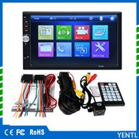 Wholesale Rectangle Universal inch MP5 Player Din Touch Screen Car DVD Video Audio Stereo autoradio Touch Screen with rear view camera
