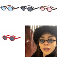 Wholesale sunnies glasses - 6colors Gothic Oval Sunglasses Women Men Vintage Tortoiseshell Frame Blue Sunnies outdoor Sun Glasses Shades GGA627 12PCS