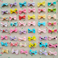 """Wholesale handmade baby jewelry - 100pcs lot 1.4"""" handmade kids baby girls hair accessories Wave point dot bow clip hairpin hair clip children hair Barrettes jewelry"""