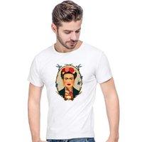 ingrosso frida kahlo tees-2018 New Frida Kahlo maglietta cute cartoon art t shirt estate uomo fashion design tops ragazza t-shirt Ladies befree tees